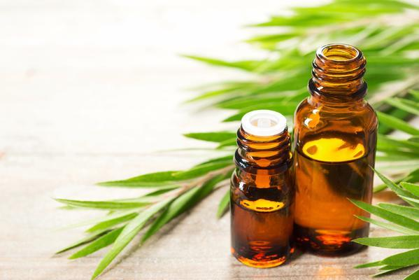 Australian tea tree oil, which can help combat butt acne (i.e. folliculitis) when combined with salicylic acid or benzoyl peroxide.