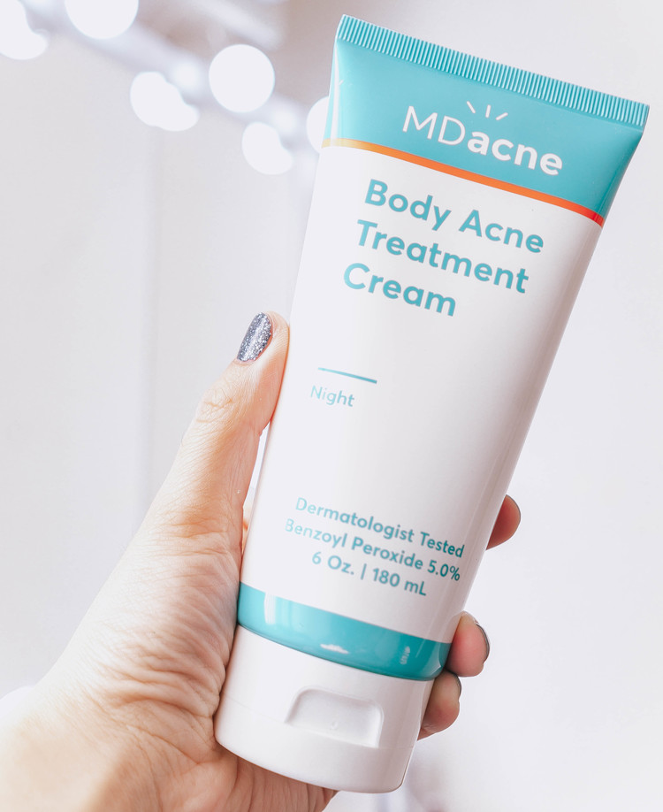 MDacne body acne treatment cream