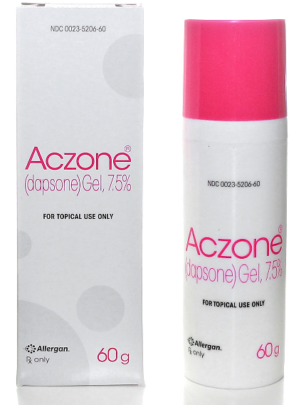 Aczone gel for acne treatment
