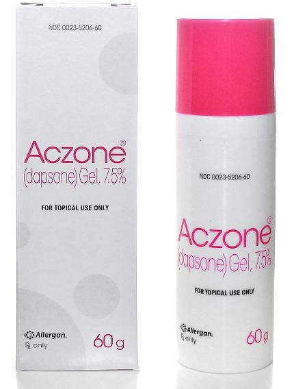 Aczone gel for acne treatment