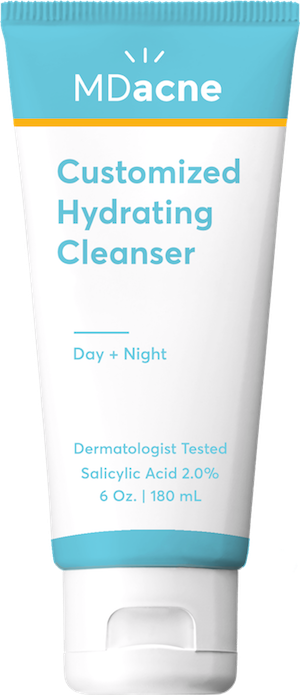 MDacne medicated cleanser with Salicylic Acid to unclog pores and treat and prevent breakouts