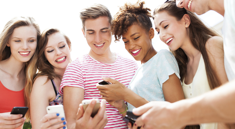 Teen searching best acne treatment app